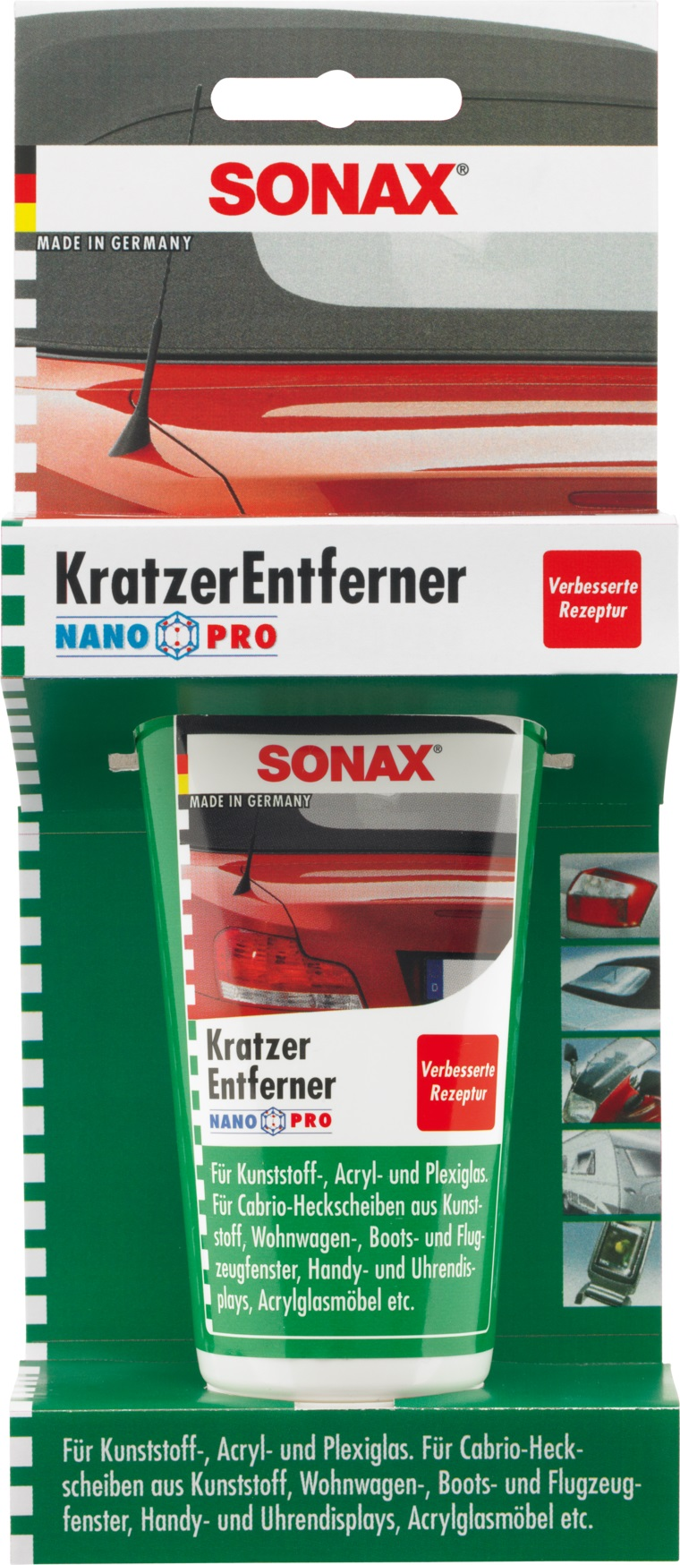 sonax kratzerentferner kunststoff kratzer auto 75ml ebay. Black Bedroom Furniture Sets. Home Design Ideas